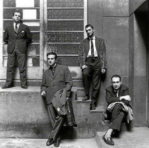 Jaime-Gil-de-Biedma-José-Agustín-Goytisolo-Carlos-Barral-y-J.M.-Castellet-p